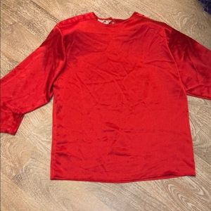 Vintage San Andre top red blouse New York Paris